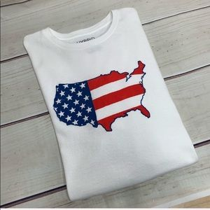 HYBRID & company White United States Flag T-Shirt